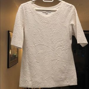 LOFT Quilted Short Sleeve T